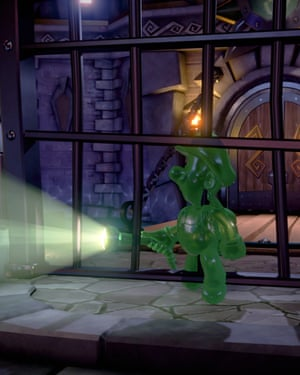 Gooigi, the gummy clone of Luigi, can move through objects and small spaces.