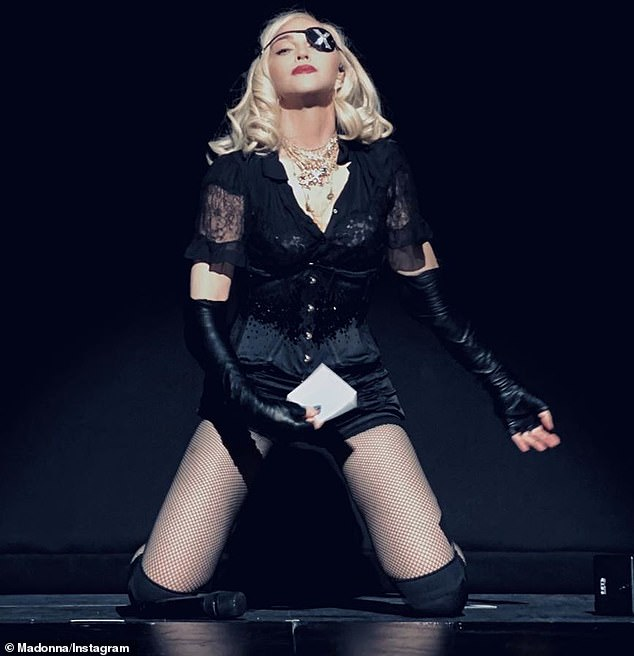 Uh oh: Madonna by a class-action lawsuit from disgruntled ticket buyers with regards to her current tour; she is pictured during a recent concert in Brooklyn