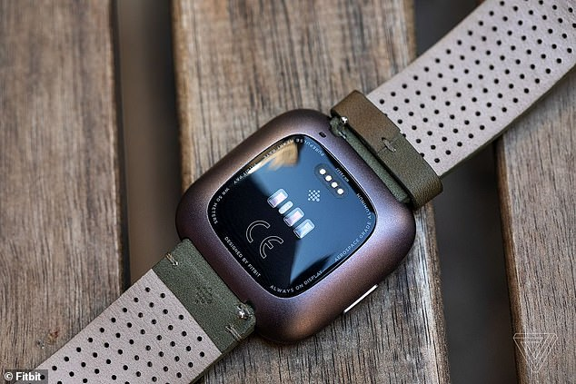 Unhappy Fitbit users announced they were ditching the devices over privacy concerns following Google's purchase of the activity tracking firm. Pictured, the Fitbit Versa 2