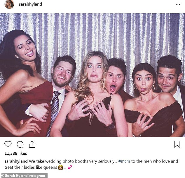 Hands-on approach: Fans were not pleased with Sarah Hyland after she shared a photo to Instagram of fiance Wells Adams grabbing her breast