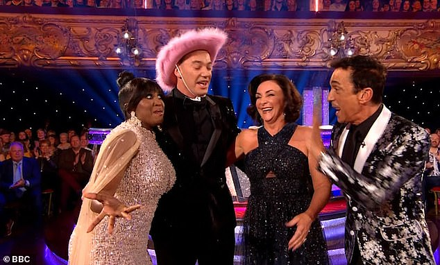 Oops! Strictly Come Dancing judge Motsi Mabuse suffered a hilarious blunder during Saturday's Blackpool spectacular after she missed her cue to arrive with the rest of the panel