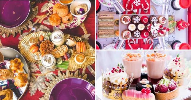 festive afternoon teas in London