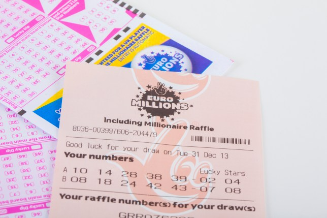 A Euromillions ticket in the UK