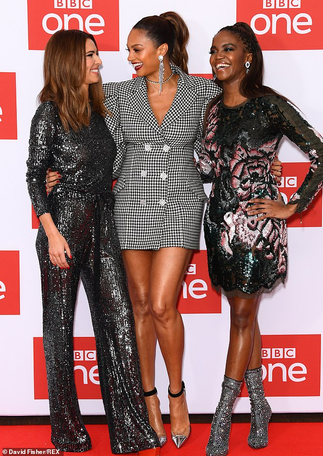 They're back! Cheryl appeared excited for The Greatest Dancer's return as she attended a photocall for the second series with Oti Mabuse and Alesha Dixon in London on Monday