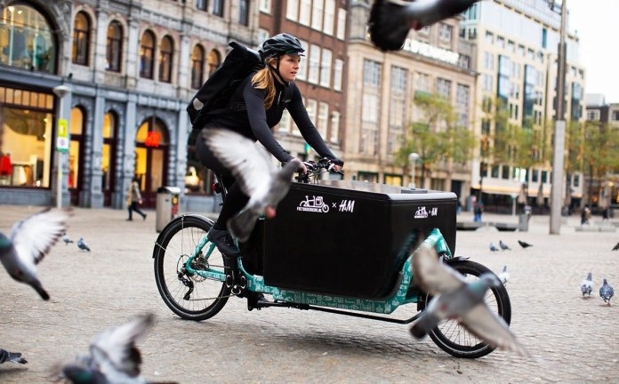 H&M to deliver orders by bike in the Netherlands