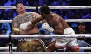 Joshua, right, dominated the fight.