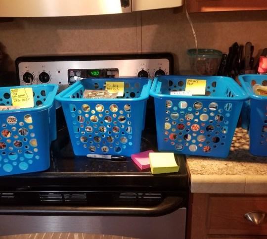 Meal planning baskets Picture: Jessica Bonnette/?TheALDINerd.com