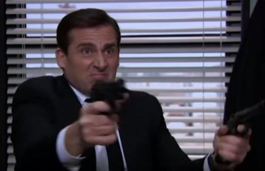 Michael Scott Dwight Schrute The Office US Threat Level Midnight