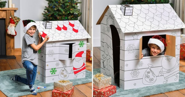 This £9.99 colour-in Christmas grotto will keep your little elves busy for hours