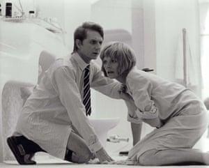 René Auberjonois with Susannah York in the 1972 film Images.