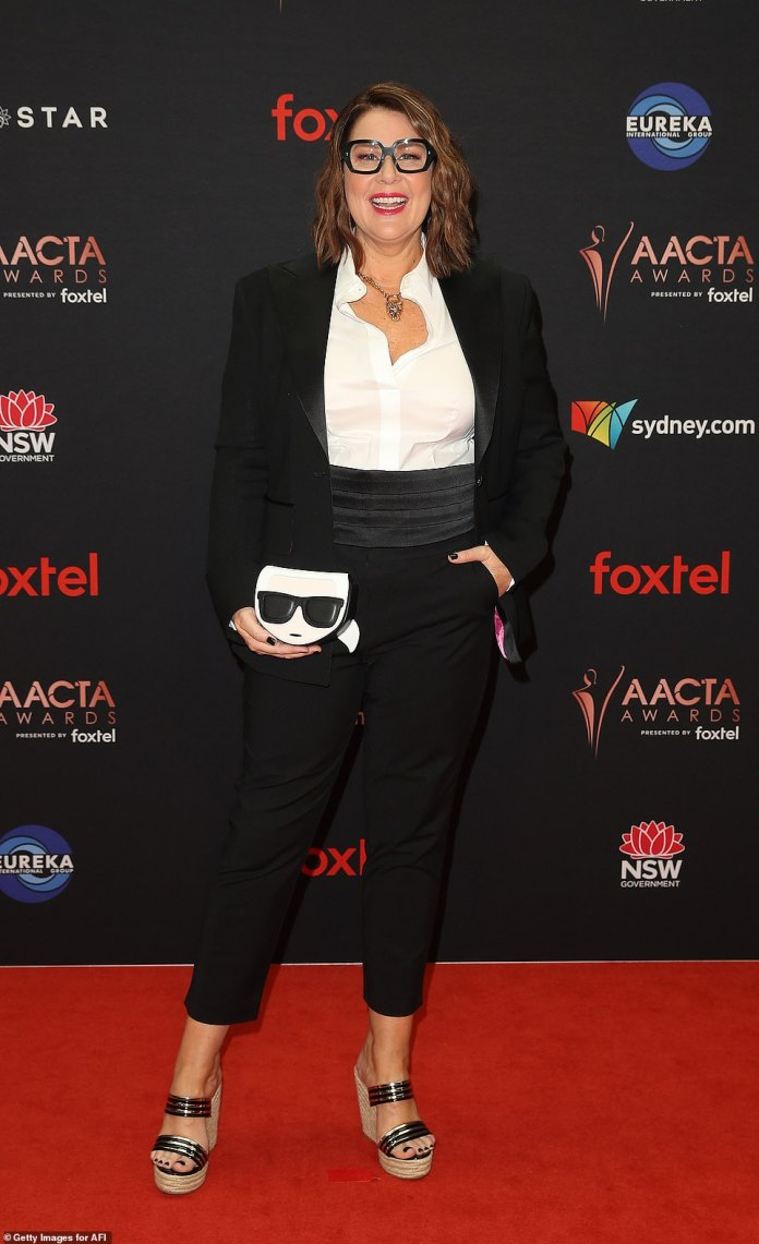 Putting in an appearance: Also stepping out for the awards, which recognises excellence in the Australian film industry, was Julia Morris