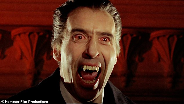 Icon: Dracula has been portrayed by 87 different times, the most famous actor to take on the role was Christopher Lee, who played the blood-sucking count ten times from 1958 to 1976
