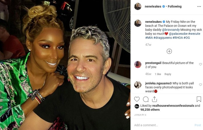 Nene's visited the bar before with Bravo exec Andy Cohen