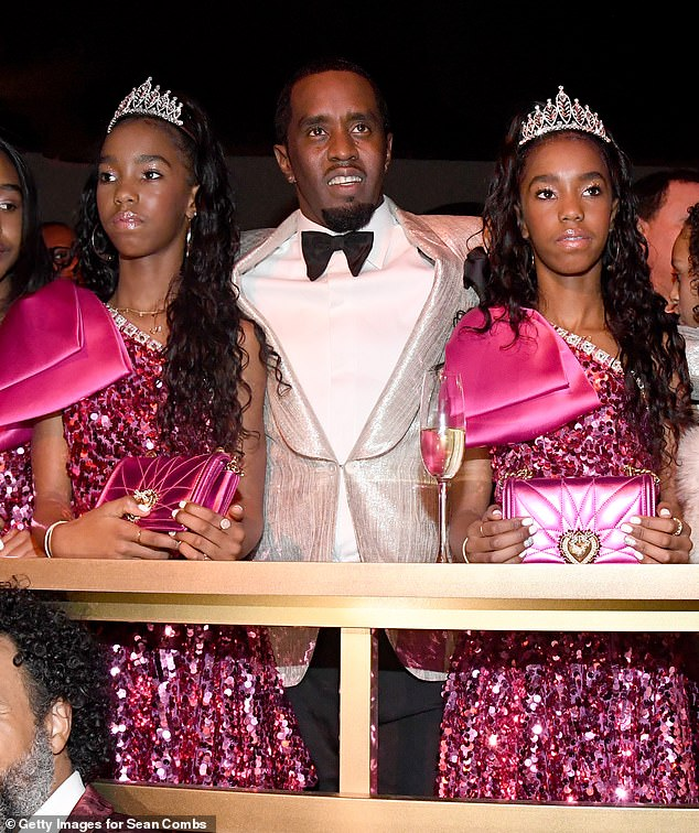 A list: He was pictured alongside his daughters a whole host of the world's biggest celebrities including Betonce, Jay Z, Cardi B, Post Malone and Snoop Dogg among others