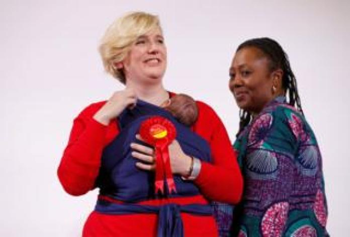 Labour's Stella Creasy with her baby daughter