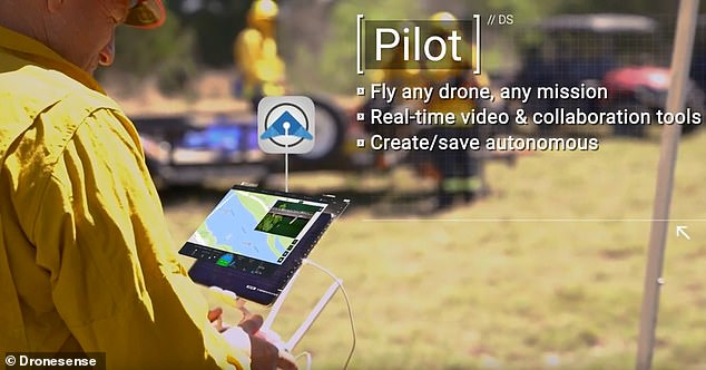 With a secure login, DroneSense clients can access a live video feed of a drone pilot's view during a flight