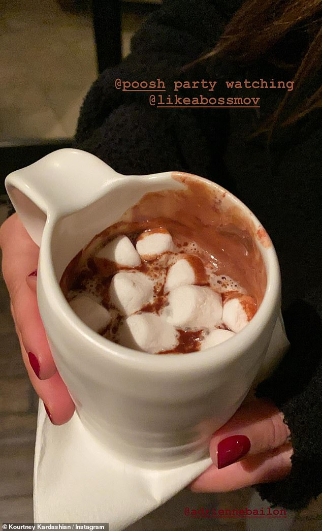 Naughty naughty: And there was hot chocolate with marshmallows