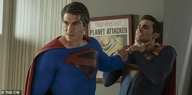 Multi-dimensional: Part two of Crisis on Infinite Earths also included two other dueling Supermen - Brandon Routh (L) and Tyler Hoechlin (R)