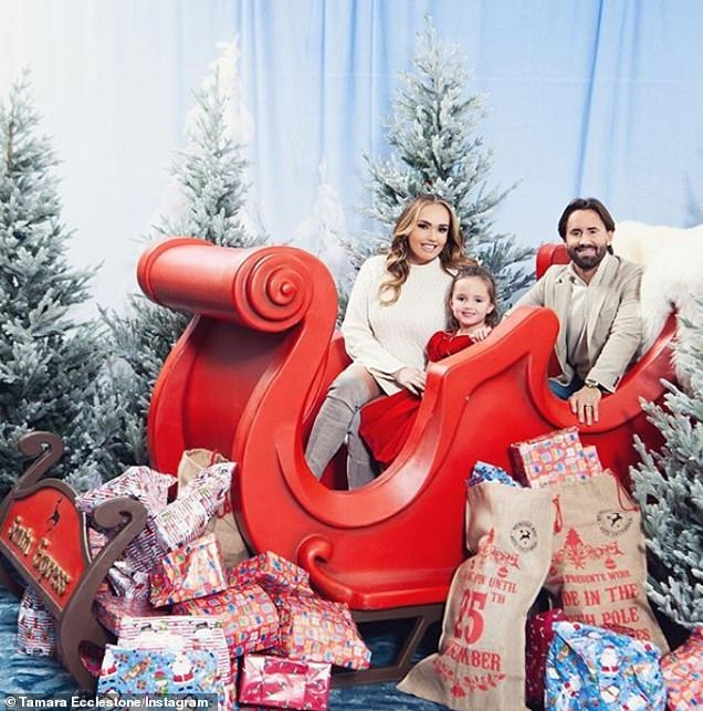 Festive family fun: Tamara proved there were no expenses spared when it comes to the little girl's happiness, treating Sophia to a lavish Christmas party last week