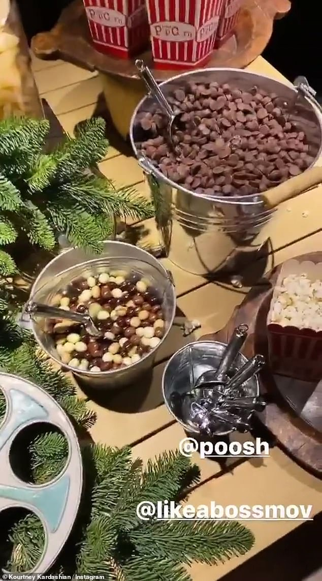 Shocked: Kourtney threw a Poosh event at her home and Kim was shocked that the star had a full candy bar