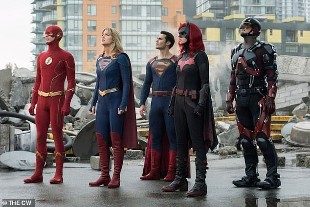 Supergroup: The five-night crossover event uniting the casts of Supergirl, Batwoman, The Flash, Arrow, and Legends of Tomorrow resumes Tuesday on The CW