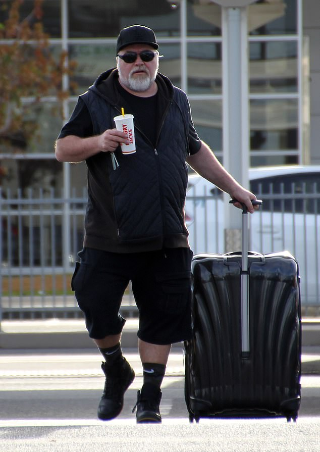 Leading the way! After arriving in Cairns on Tuesday, Kyle was seen leaving the airport without Tegan before collecting a rental car