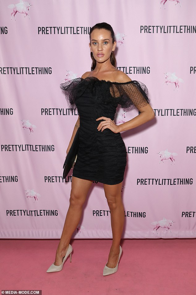 Guest of honour:Ines flew to Sydney on Wednesday to attend an event at Watsons Bay Hotel hosted by NEON Model Management and the PrettyLittleThing fashion label