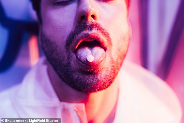 Micro-dosing is a growing phenomenon that uses tiny amounts of drugs such as LSD to keep addiction at bay. 18-MC works in a similar way but, its developers claim, will not trigger hallucinations, visions or comedowns (stock)