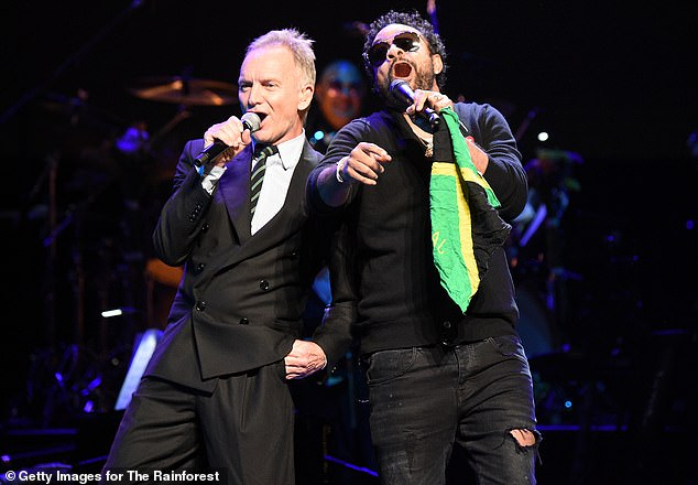 Duet: Shaggy took to the stage for a duet with Sting, befitting the events inspiration of '80s and '90s music