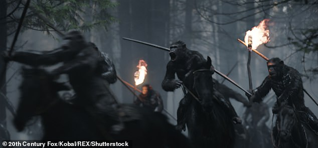 War:2017's War For the Planet of the Apes got a 94% on Rotten Tomatoes, though it earned slightly less than its predecessor with $490.7 million worldwide from a $150 million budget