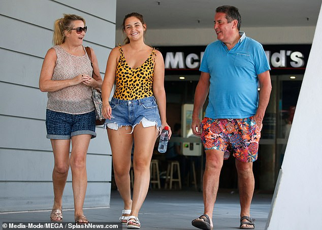 Family:Jacqueline's other half Dan was noticeably absent as the I'm A Celebrity winner spent time with her parents after being crowned Queen of the Jungle