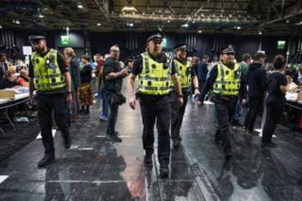 Police take away ballot papers