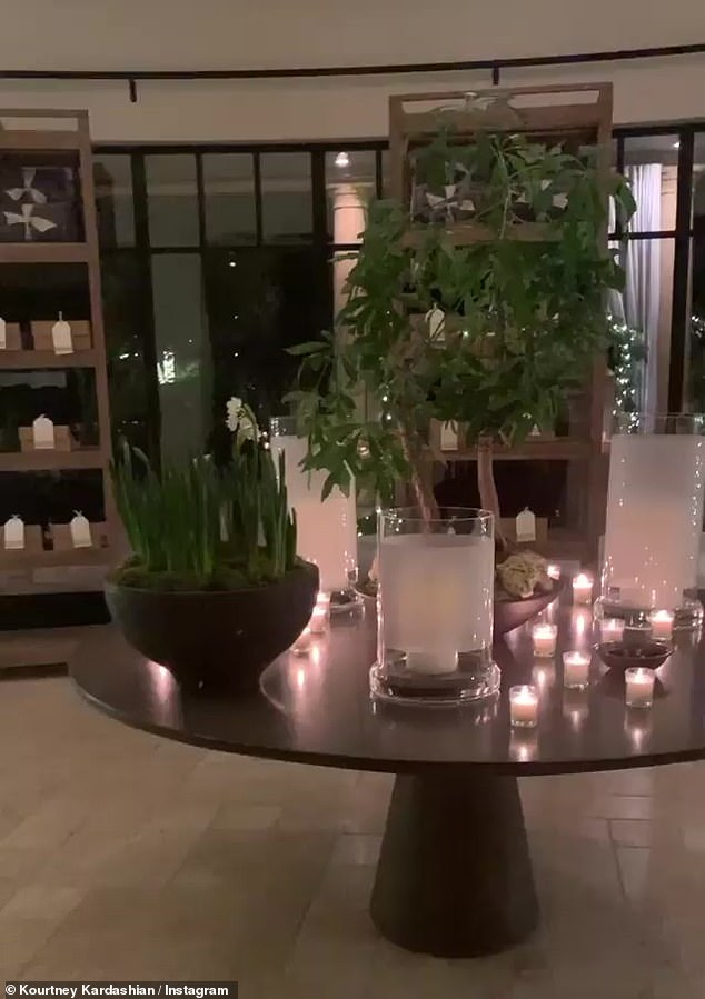 A welcoming entry way: There were candles all over the foyer table