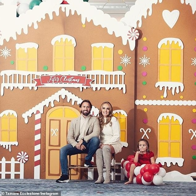Having a blast: The star shared some stunning snapshots from inside the festive celebrations alongside her husband Jay