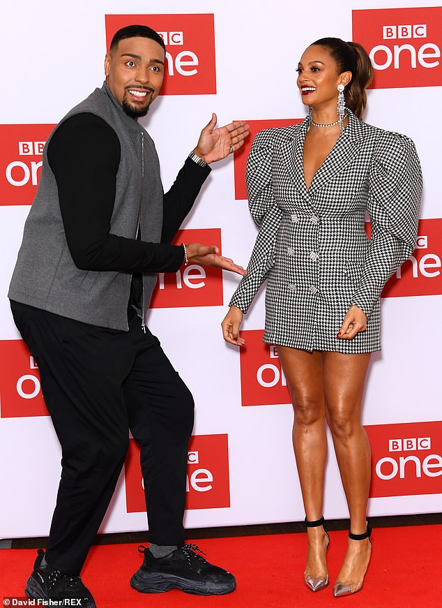 Look here! TheDiversity star, 26, was every inch the gentleman as he showed off Alesha at the event