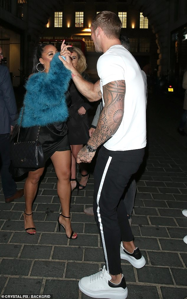Ouch! Jacqueline's husband Dan was accused of taking part in a threesome with Natalie Nunn and Chloe Ayling on this night in question back in 2018