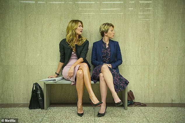 Leading ladies: Laura Dern could take home two trophies for her roles in Big Little Lies and also in Marriage Story, while Scarlett Johansson is in the same boat with nominations for her parts on Jojo Rabbit and Marriage Story