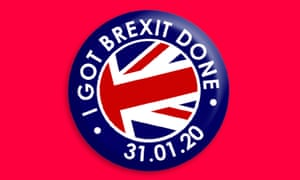 Limited edition Got Brexit Done lapel pin,, which costs £5.