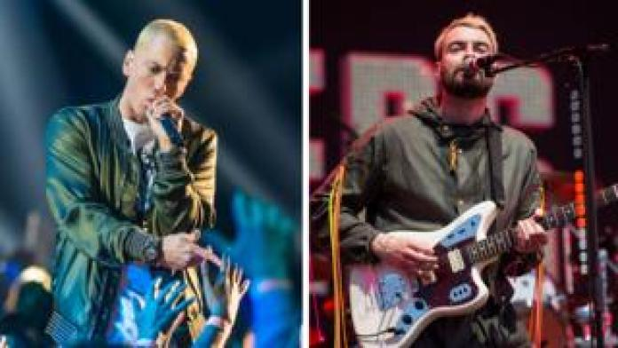 Eminem and The Courteeners are going head-to-head for this week's number UK album