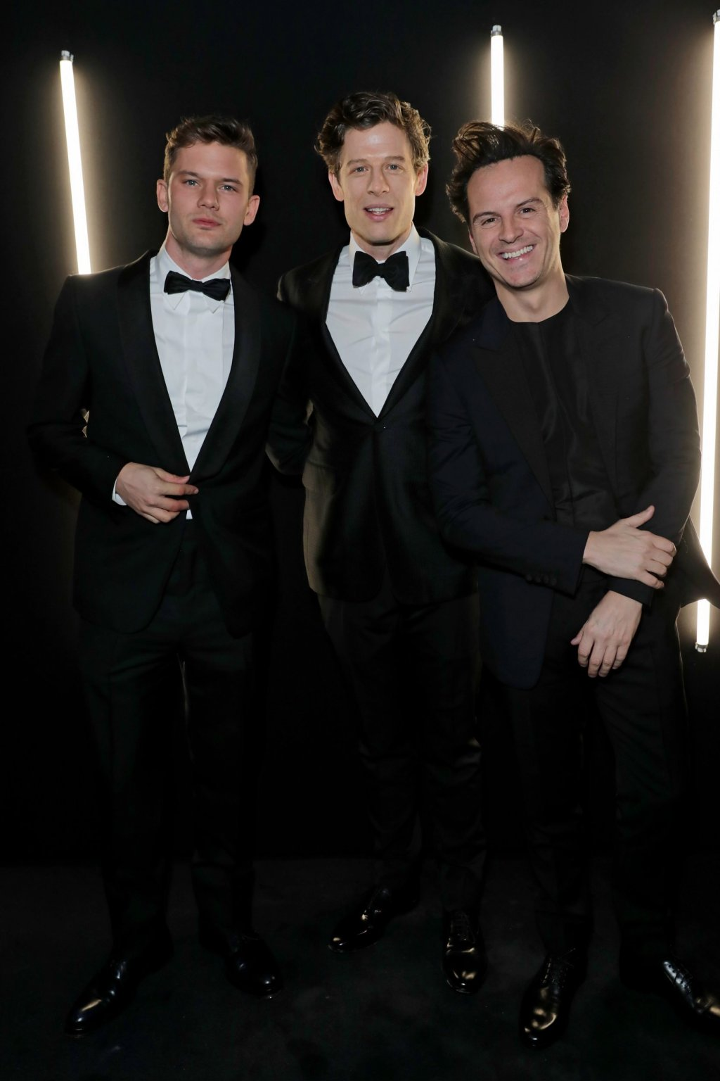 Jeremy Irvine, James Norton and Andrew Scott