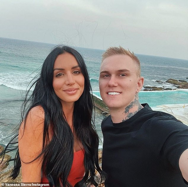 'Go together, you will go far': Love Island's Vanessa Sierra hinted at new romance with prankster Luke Erwin in a cosy beach selfie on Wednesday: Pictured: the couple