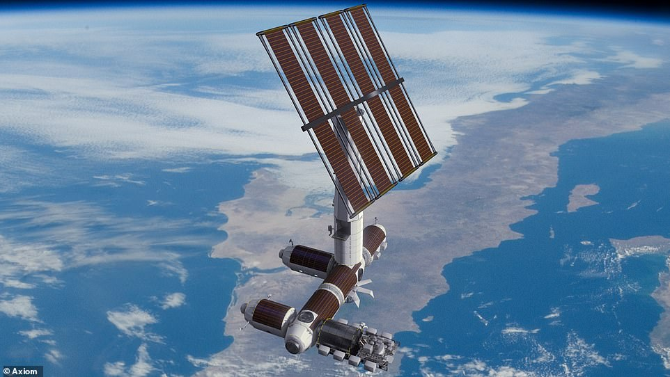 The Axiom Segment will be constructed while attached to the ISS and, at the end of the ISS' life, detach and operate on its own (pictured). The ISS i set to be decommissioned towards the end of this decade