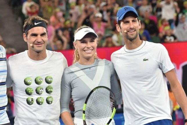 Roger Federer and Novak Djokovic pay tribute to Caroline Wozniacki