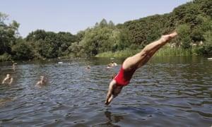 Ladies' pond on Hampstead Heath