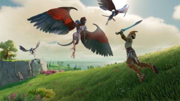 Gods and Monsters image of a character fighting winged creatures