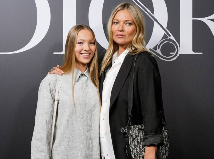 Kate Moss, Lila Moss, Dior Homme, Paris Fashion Week, Star Sightings