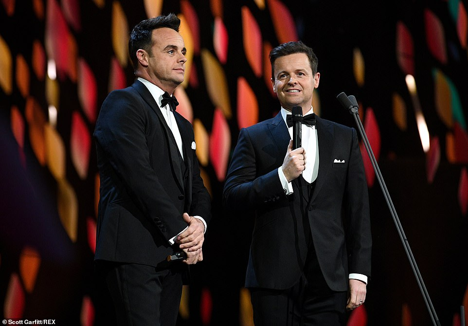 Another NTA: Ant & Dec scooped the prize for Best Presenters - yet again - as well as the Bruce Forsyth Entertainment Award for I'm A Celeb - which they dedicated to those who have battled the bush fires in Australia