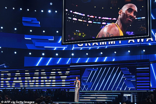 A moment of silence: Kobe and his late daughter Gianna were honored at Grammys in emotional tribute, as host Alicia Keys said, ¿Earlier today, Los Angeles, America and the whole wide world lost a hero