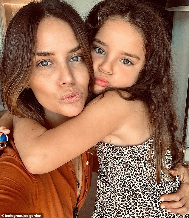 Proud mum: Jodi has revealed she is leaving the long running soap to move back to Sydney to spend more time with her daughter, Aleeia, five