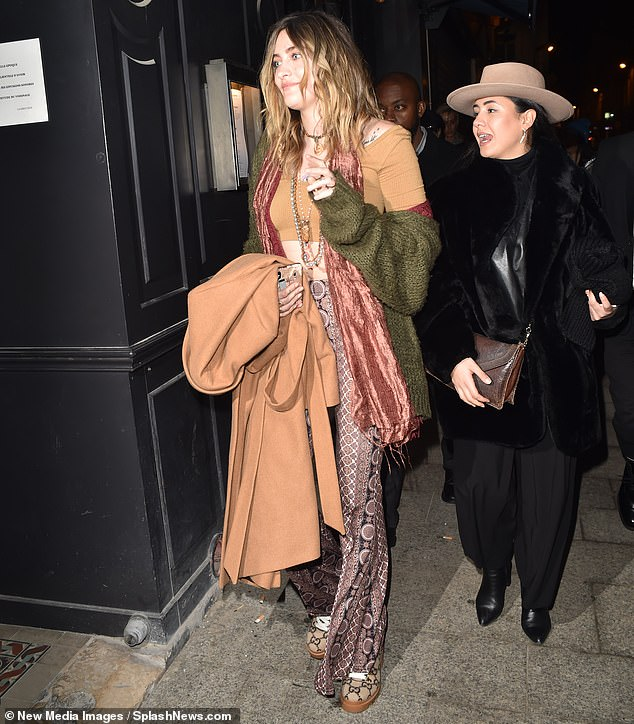 Paris likes Paris: Jackson seemed to be happy in France where she has visited many times